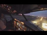Вид из кабины при взлете самолета