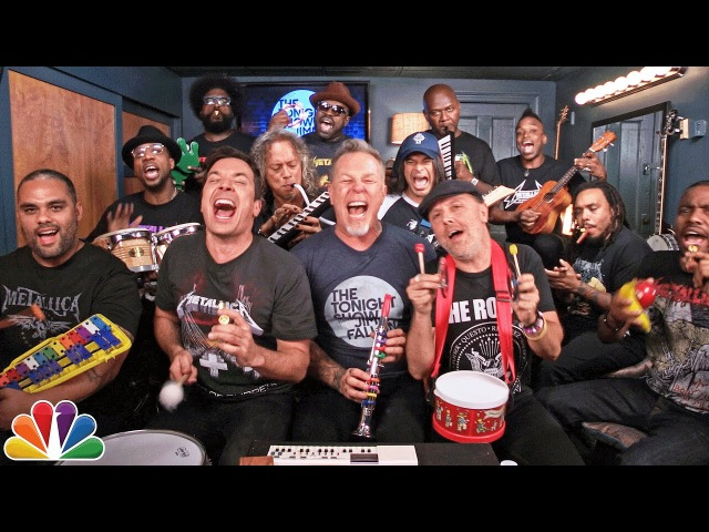 Jimmy Fallon, Metallica The Roots Sing Enter Sandman (Classroom Instruments)