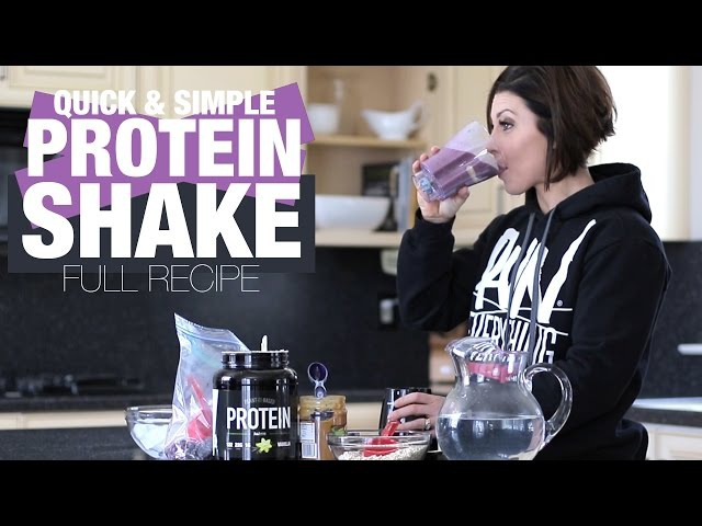 QUICK AND EASY POSTWORKOUT SHAKE RECIPE w/ DLB