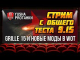 Стрим с общего ТЕСТА 9.15 | Grille 15 и новые МОДЫ в WoT #worldoftanks #wot #танки — [htp:/wot-vod.ru]