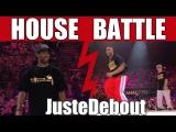 Qualification - House dance battle style :  King Charles & Meech (UK) vs Serge & Kapela (France)