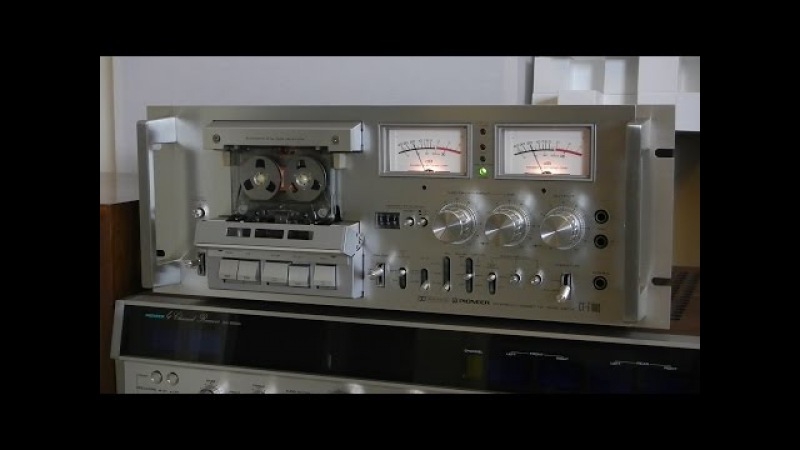 Vintage Pioneer CT-F1000 Stereo cassette deck Review Demo