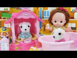 귀여운 아기 강아지 세라의 쪼꼬미 집 뽀로로 와 목욕놀이 애완동물 인형 장45