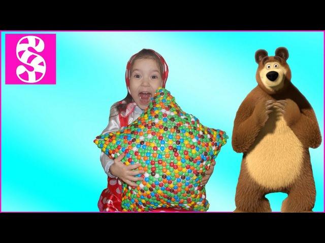 МАША И МЕДВЕДЬ🍭 Гигантская конфета Masha and the Bear Giant Candies😍