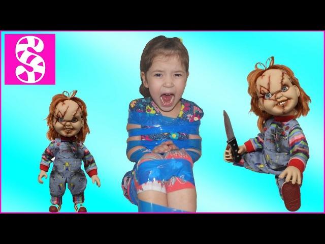 Ужасная кукла напала на ребенка 🙀Вредный ребенок крадет сладости🍭 Terrible attacked th...