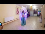 Yasmin, belly dance performance in New Year 2017, light show