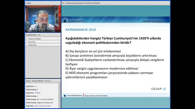 26-Türkiye Ekonomisinin Tarihsel Gelişimi (KPSS MAKRO İKTİSAT SETİ)