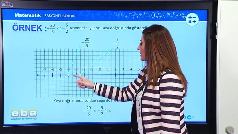 12-Rasyonel Sayılar ve Sayı Doğrusunda Gösterimi - MATEMATİK DERSLERİ - TEOG - YGS - LYS