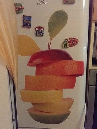 наклейка фрукты фото