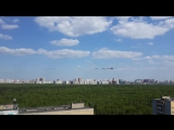 9 мая, пролет вертолетов, Тушино