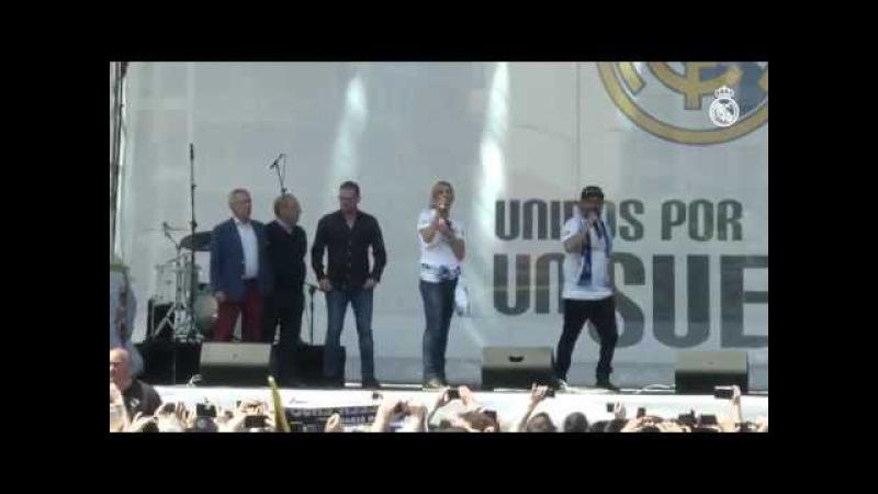 Gento, Amancio, Raúl, Roberto Carlos y Mijatovic estuvieron en nuestra 'Fan Zone' de Milán