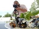 Дегустация блюд из мидий.Бэкстейдж фотосъемки. Николаев. Ushuaia