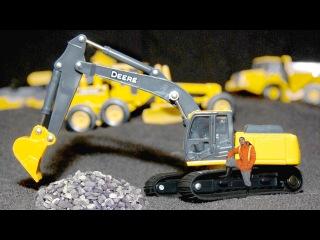 Bagger Kinderfilm deutsch - Der Gelbe Bagger und Der Traktor - Lernen und bauen - Cartoon für Kinder