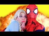 Frozen Elsa Kidnapped and Spiderman Saves her! Joker Maleficent Hulk Superheroes IRL