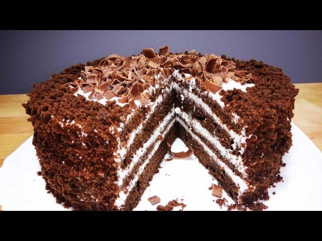 Шоколадный Торт на Кефире ЧЁРНЫЙ ПРИНЦ | Нежный и Сочный | Chocolate cake