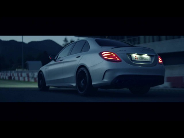 Mercedes AMG C63 with an Akrapovič Exhaust System (PartsBoutique.ru)