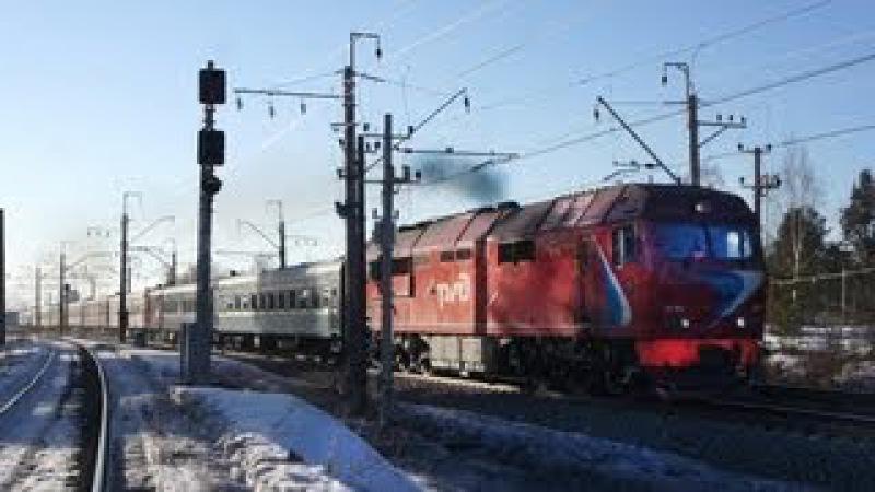 ТЭП70БС-093 с поездом №6 СПб-Петрозаводск [RZD] Горы