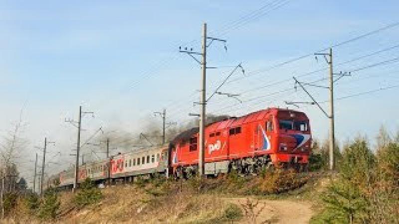 ТЭП70БС-093 с поездом №6 СПб-Петрозаводск (RZD) Павлово-на-Неве