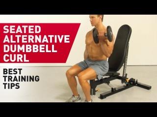 Подъем гантели на бицепс сидя на скамье - техника выполнения упражнения (FitABS - Exercise Guide) gjl]tv ufyntkb yf ,bwtgc cblz