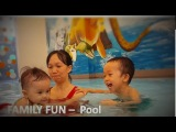 FAMILY FUN - Playtime in the Pool Family Fun | Kids Playing Shool Bus Lego in the Water by HT BabyTV