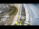 На велосипеде по стене высотой 200 метров