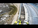Riding a bike on a 200m high rail - Fabio Wibmer