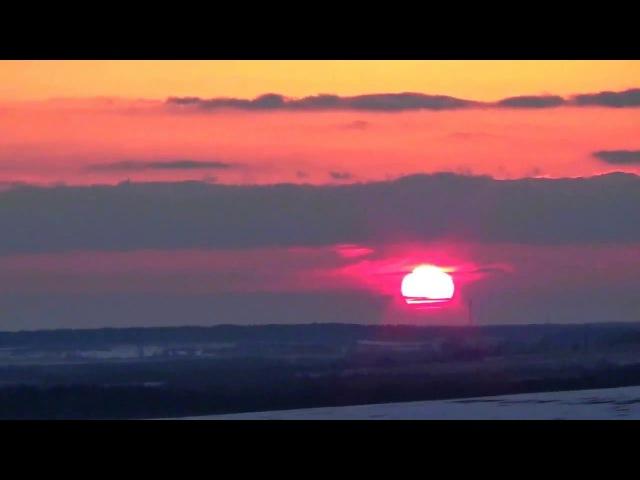 Вечерние облака и заход солнца ускоренное видео смотреть онлайн без регистрации