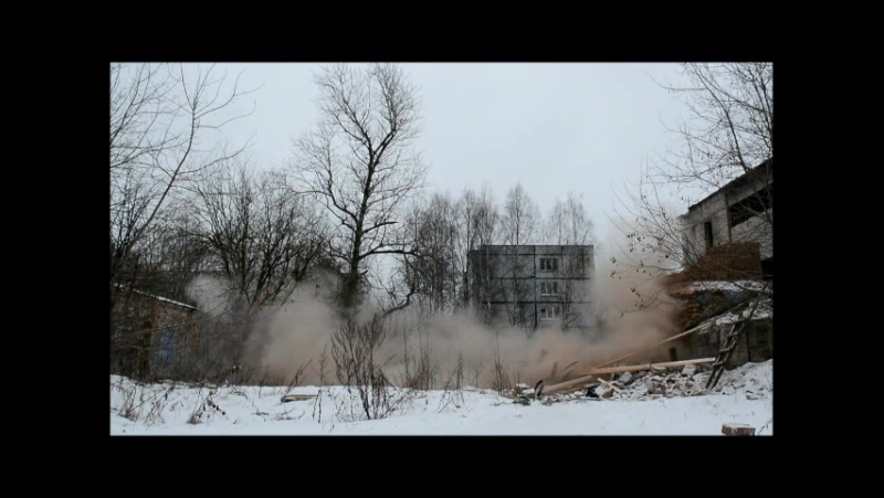 Компания Олимп демонтаж кирпичной дымовой трубы Ленинградская область, г.Луга