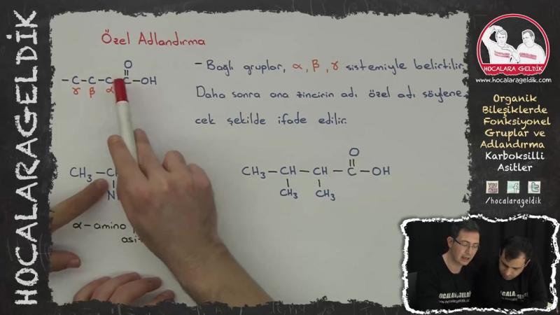 Organik Bileşiklerde Fonksiyonel Gruplar ve Adlandırma - Karboksilli Asitler