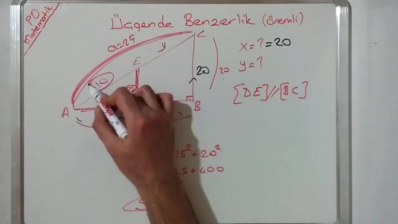 8. Sınıf Üçgende Eşlik ve Benzerlik (2. VİDEO) Konu Anlatımı Soru Çözümü (TEOG 2. SINAV)