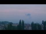 Славянск 2 мая, 2014 . Утро Выстрелы, Сирена, Вертолет