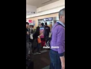 [11.10.16] Мино в аэропорту города Фукуока.