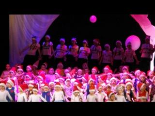 новогодний концерт детских студий МКЦ, флешмоб, 16.12.2016