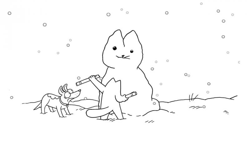 Кот Саймона / Simon's Cat - 49. Снежная кошка