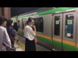 Японское метро в час-пик.