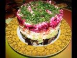 Постный салат Грузди под шубой