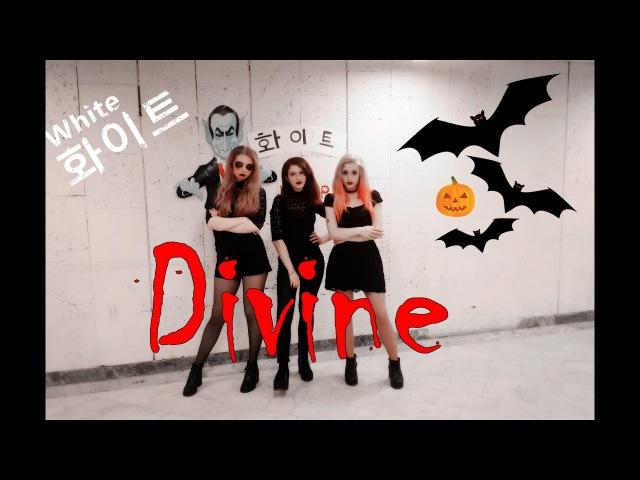 화이트 Pink Dolls (Eunjung, Maydoni, Choi Ara, Jin Seyeon) - White cover by Divine