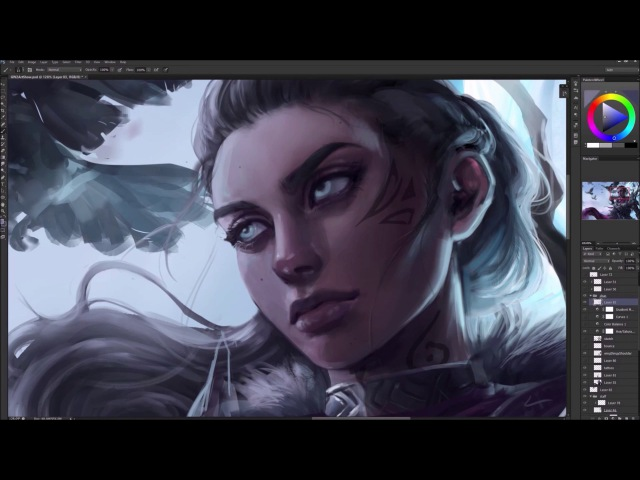 Astri Lohne — Nevermore - Guild Wars 2 | Digital Painting Process