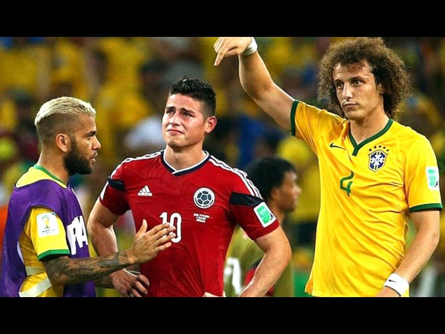 Colombia 1-2 Brazil (FIFA World Cup 2014 - 1/4 final ) HD 720p (Eng)
