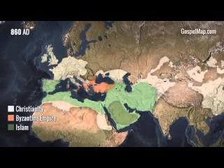 История распространения христианства за 2000 лет!