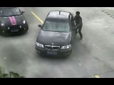 LiveLeak - Driver mistakenly reverses car into river in east China
