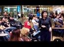 Disneys Frozen flash mob at Paris CDG airport