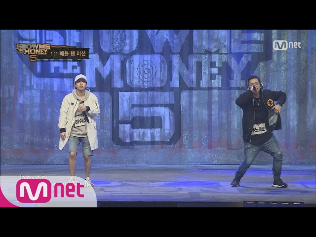 [SMTM5] Unique Flow, Neck-and-Neck Rap Battle! Junoflo vs Hash Swan @1:1 Battle Rnd 20160603 EP.04