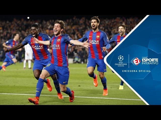 Melhores Momentos - Barcelona 6 x 1 PSG - Champions League (08032017)