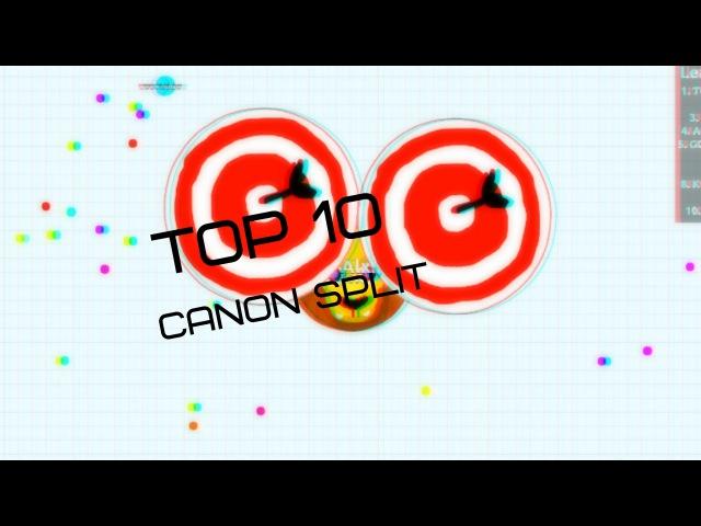 Agar.io TOP 10 CANONSPLITS Agario Best Moments