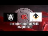 Alliance vs Escape Gaming the international 2016 T16 Quals EU