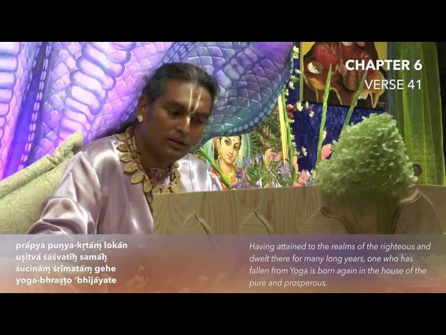 Бхагават Гита. Глава 6. Стих 41. Комментарии Парамахамсы Шри Свами Вишвананды.