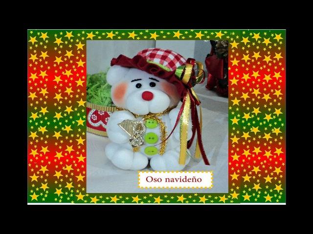 Manualidades: Muñecos de Navidad-en media velada-paso a paso