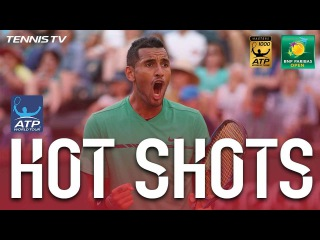 Kyrgios Produces Double Hot Shot At Indian Wells 2017