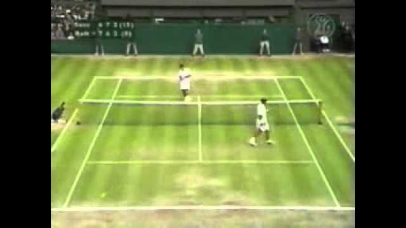 Pete Sampras great shots selection against Patrick Rafter Wimbledon 2000 FINAL